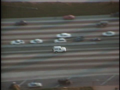 white ford bronco carries o.j. simpson during a police chase. - o.j. simpson stock videos & royalty-free footage