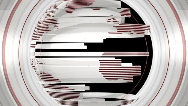 vídeos de stock, filmes e b-roll de branco globo brilhante de transição - efeito especial