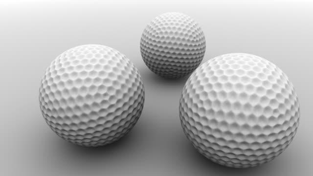 stockvideo's en b-roll-footage met white golf balls - kleine groep dingen