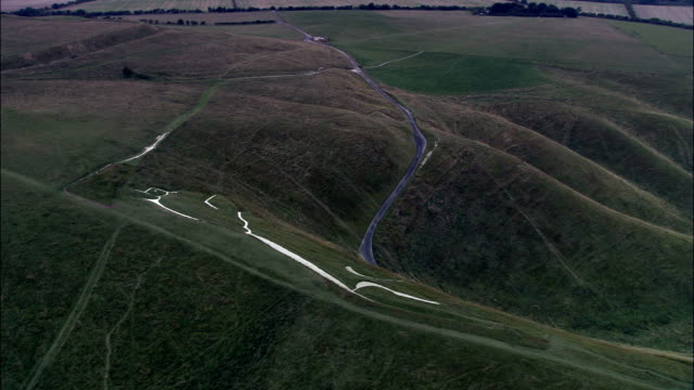White Horse Of Uffington  - Aerial View - England, Oxfordshire, Vale of White Horse District, United Kingdom