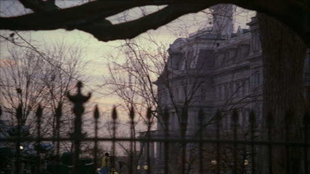 pan white house and old executive office building behind wrought iron fence / washington, dc, united states - 2000s style stock videos & royalty-free footage