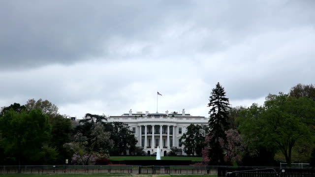 white house - bewölkten tag - overcast stock-videos und b-roll-filmmaterial