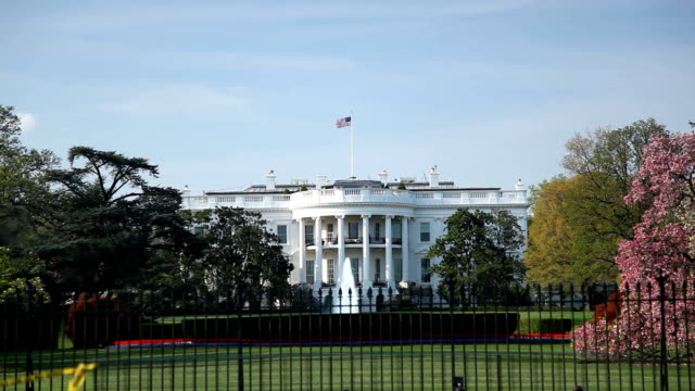 white house - cloudy day - white house washington dc stock videos & royalty-free footage