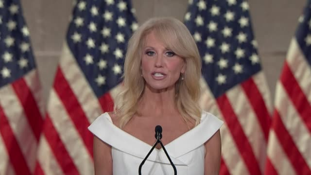 white house counselor to president donald trump kellyanne conway says in remarks to the 2020 republican national convention that 100 years earlier,... - fragility stock videos & royalty-free footage