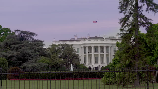 white house lawn southeast view washington, dc in 4k/uhd - donald trump us president stock videos and b-roll footage
