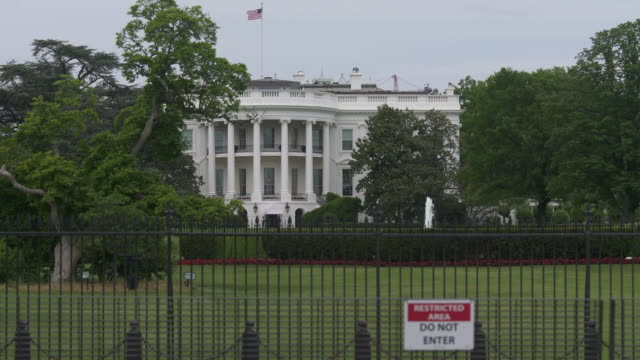 white house lawn southwest view in washington, dc in 4k/uhd - donald trump us president stock videos and b-roll footage