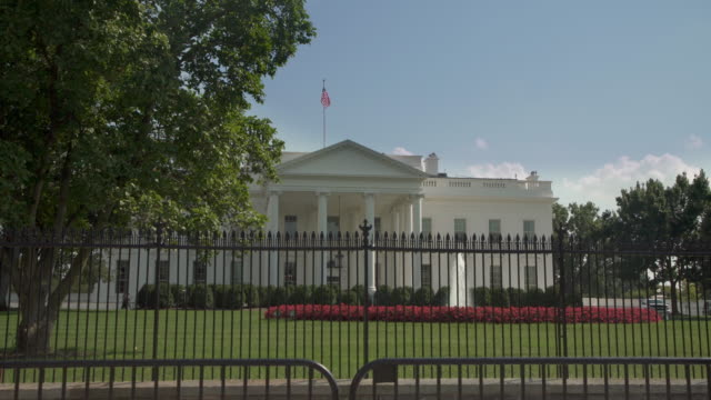 white house north facade lawn washington, dc in 4k/uhd - donald trump us president stock videos and b-roll footage