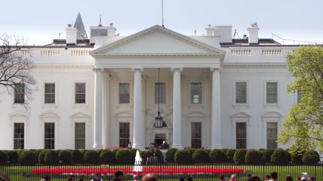 ホワイトハウス北ファサード 4 k/uhd のワシントン、dc を芝生 - ワシントンdc ホワイトハウス点の映像素材/bロール