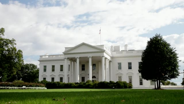 white house north facade lawn washington, dc - white house washington dc stock videos & royalty-free footage