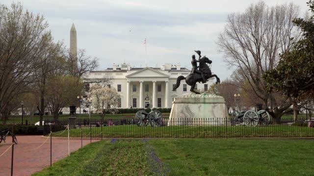 4 k/uhd でワシントンのラファイエット広場公園からホワイトハウス北 - アメリカ大統領点の映像素材/bロール