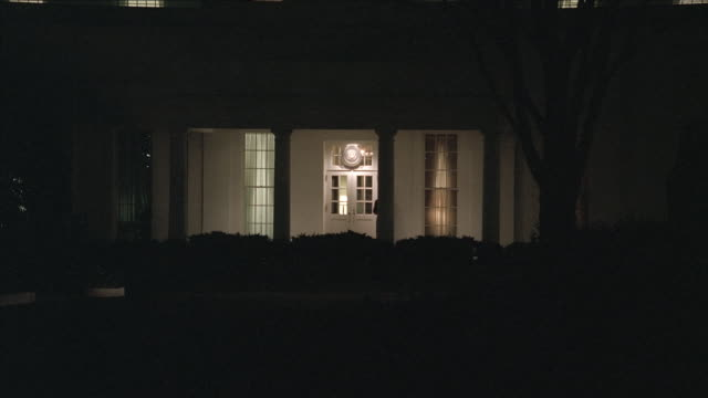 ms white house north portico door at night / washington, d.c., united states - 2000s style stock videos & royalty-free footage