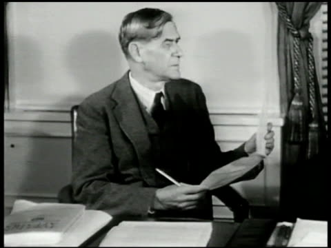white house press secretary charles g ross at desk w/ policy maker clark clifford vs ross and clifford talking cu paper 'president's appointments'... - 1906 stock videos and b-roll footage