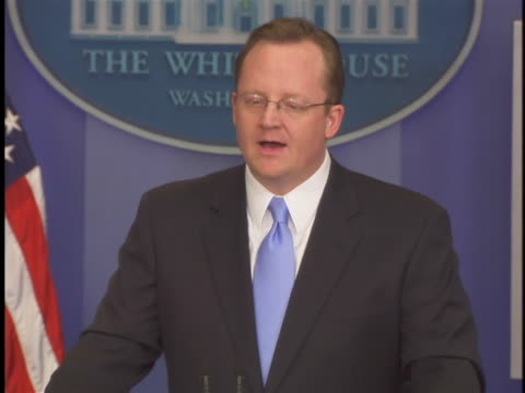 white house press secretary robert gibbs responds to questions from the media regarding u.s. president barack obama's request to congress for... - request stock videos & royalty-free footage