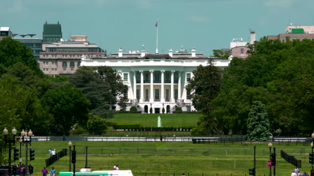 vidéos et rushes de white house south et ellipse à washington, dc en 4k/uhd - président des états unis