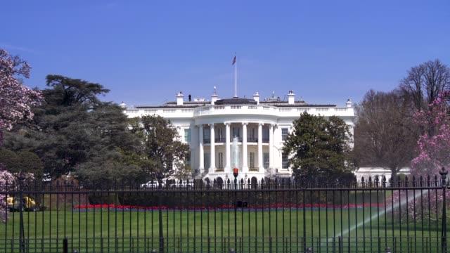 ホワイトハウス南芝生、ワシントンで 4 k/uhd - ワシントンdc ホワイトハウス点の映像素材/bロール
