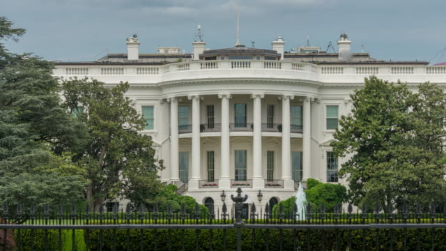 white house south lawn washington, dc - zoom in - 4k/uhd - donald trump us president stock videos and b-roll footage