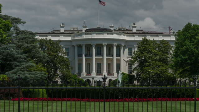white house south lawn washington, dc. zoom in time lapse in 4k/uhd - white house washington dc stock videos & royalty-free footage