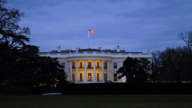 white house south time lapse - white house washington dc stock videos & royalty-free footage