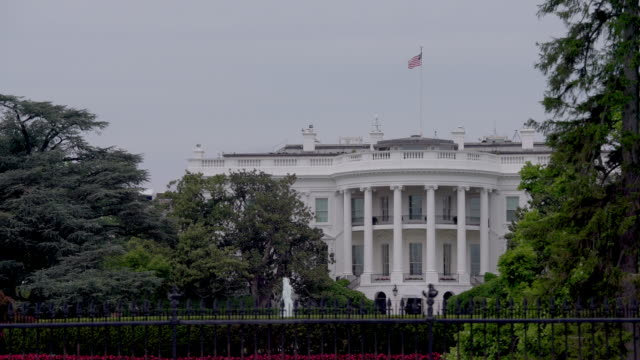 white house southeast view close up in washington, dc in 4k/uhd - donald trump us president stock videos and b-roll footage