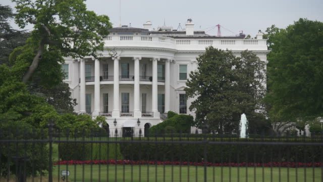 white house southwest view close up in washington, dc in 4k/uhd - donald trump us president stock videos and b-roll footage