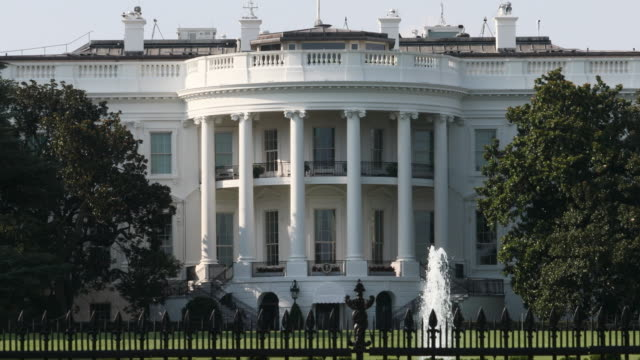 white house - la casa bianca washington dc video stock e b–roll