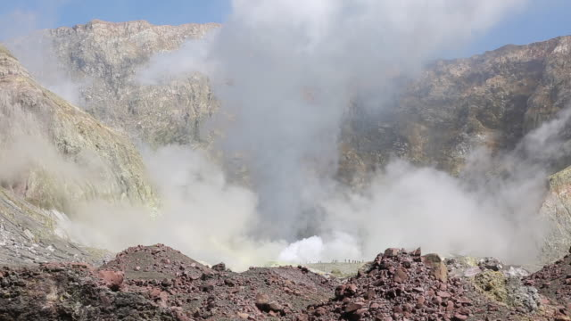 white island volcano - volcanic crater stock videos & royalty-free footage