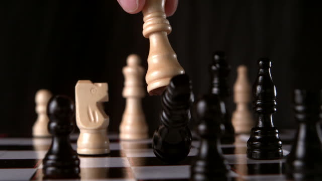 white king knocking black king - chess stock videos & royalty-free footage