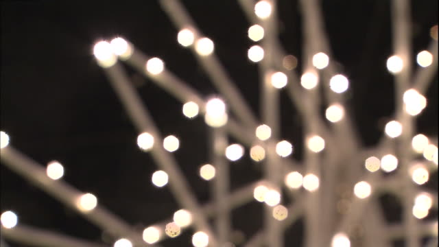 White lights twinkle during the Sapporo White Illumination ceremony in Japan.