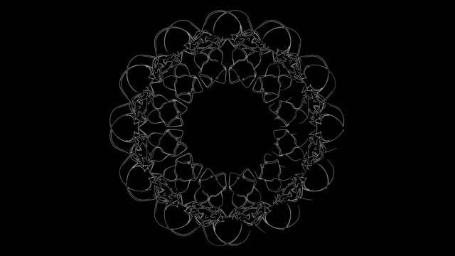 stockvideo's en b-roll-footage met witte lijn kunst voor gordijn patroon - loop elementen