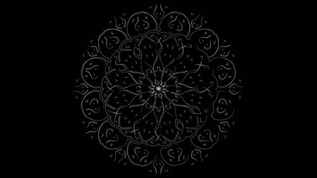 stockvideo's en b-roll-footage met witte lijn kunst voor detail moderne moskee - loop elementen