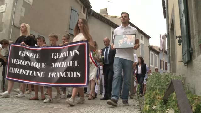 a white march was held simultaneously on wednesday night in france's aude and meurthe et moselle regions to pay tribute to six victims of the nice... - aude stock videos & royalty-free footage