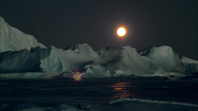 white night and landscape of antarctica - antarctica iceberg stock videos & royalty-free footage