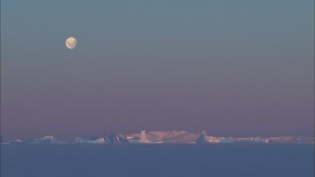 white night at antarctica - antarctica night stock videos & royalty-free footage