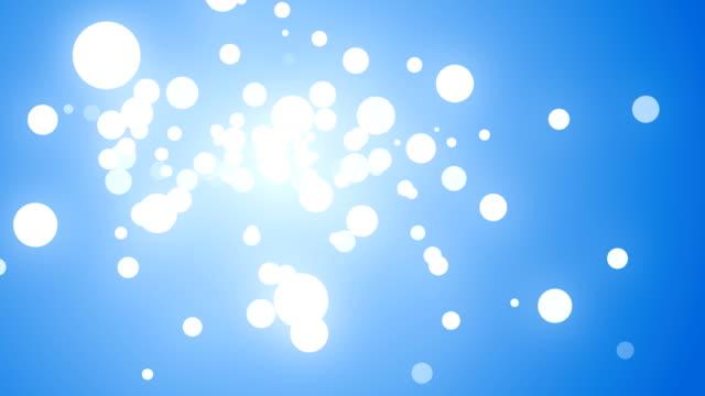 vídeos y material grabado en eventos de stock de blanco-azul (hd) fondo de partículas - con mucha luz