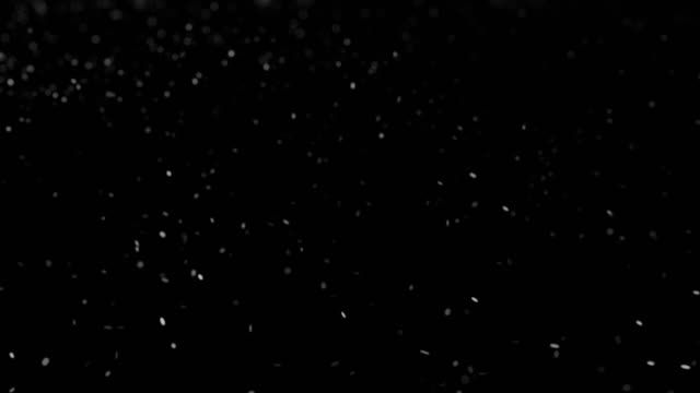 white particles in black background - cenere video stock e b–roll