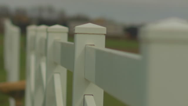 white picket fence close up - fence stock videos & royalty-free footage