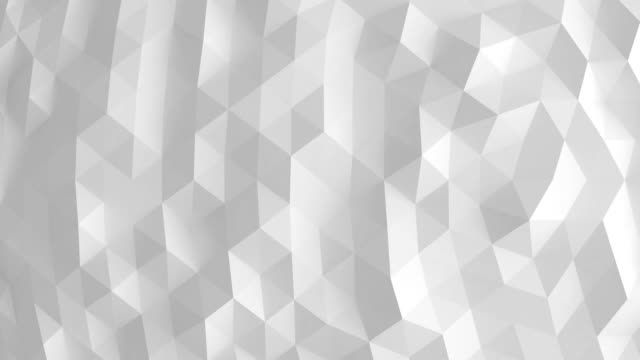 white polygonal surface loop - geometric shape stock videos & royalty-free footage