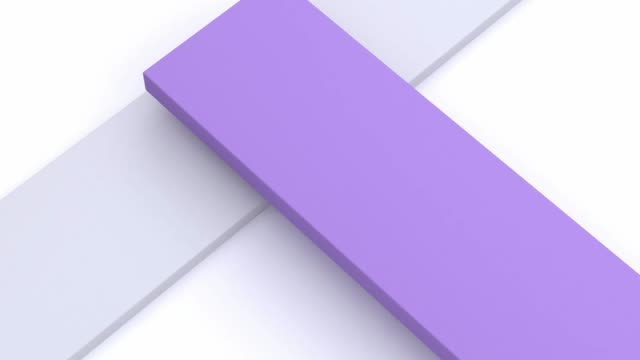 white purple minimal flat scene abstract 3d rendering motion graphic - flat lay stock videos & royalty-free footage