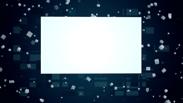 white rectangular screens appear on a background of rotating cubes. - rectangle stock videos and b-roll footage