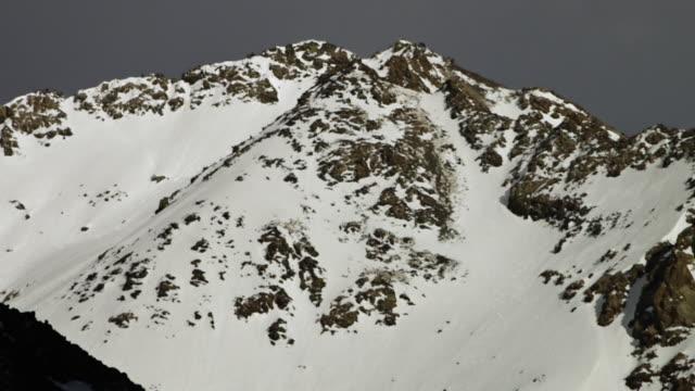 White rug of snow on the mountain