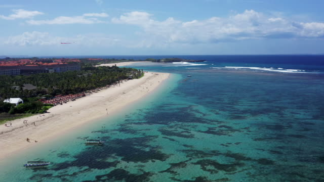 white sand beach in bali - indonesia video stock e b–roll