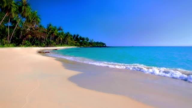 spiaggia di sabbia bianca  - messicano video stock e b–roll