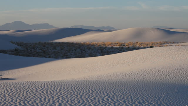 ms pan white sands national monument / alamogordo, new mexico, united states - new mexico stock videos & royalty-free footage