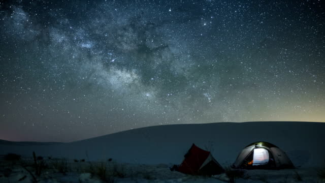 white sands national monument - tent stock videos and b-roll footage