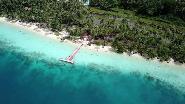 white sandy beaches and clear sea water - indonesia beach stock videos & royalty-free footage