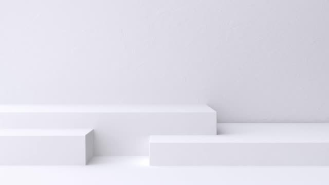 white scene wall floor minimal blank space geometric 3d rendering motion - still life stock videos & royalty-free footage