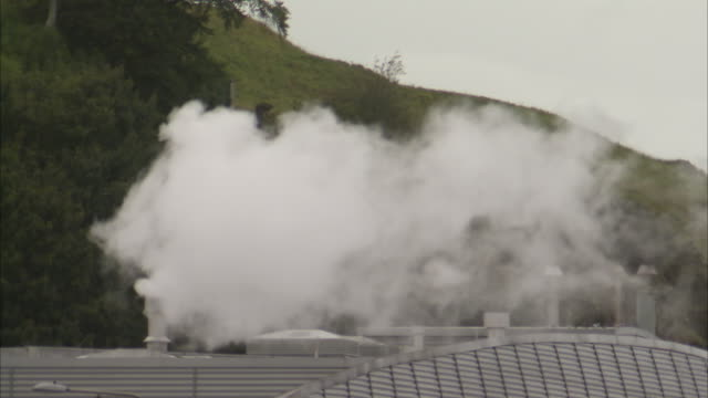 white smoke from a factory - metal blend stock videos and b-roll footage