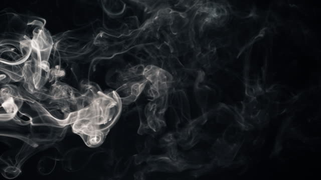 white smoke isolated on black - smoke physical structure stock videos and b-roll footage
