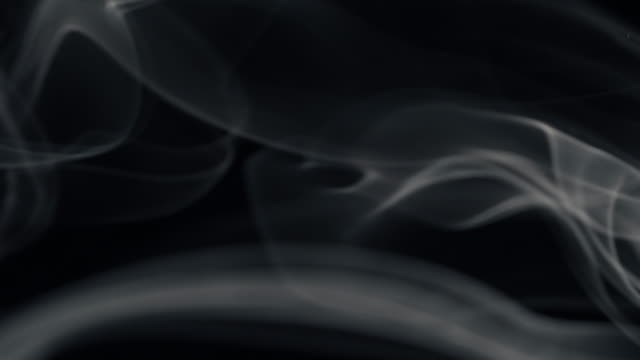 white smoke isolated on black - grayscale stock videos and b-roll footage