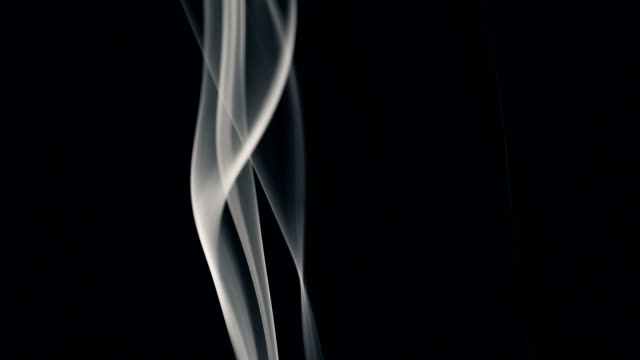 white smoke isolated on black - grayscale stock videos & royalty-free footage